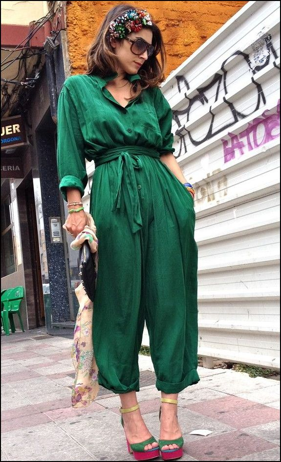 green-jumpsuit-style
